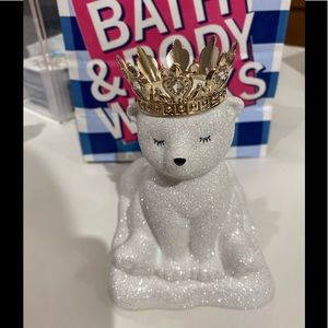Bath and body works white bear soap holder